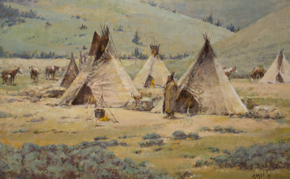Gros Ventre Hunting Camp by Frank Hagel
