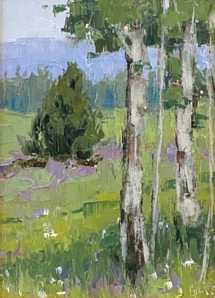 Wildflowers and Aspen by Denise Gilroy